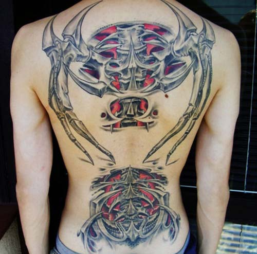 Biomech Tattoo uploaded by Dreadu. Face Tribal Ink