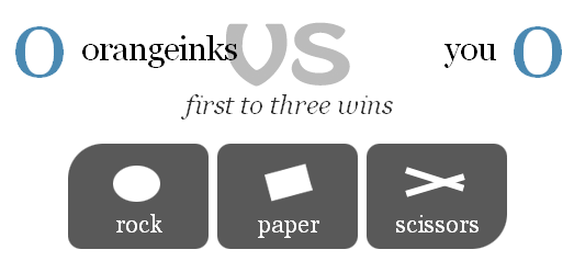 rock paper scissors online