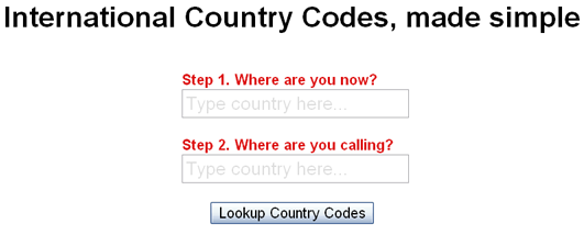 simple-country-codes