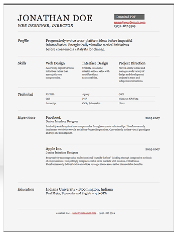 srt online html resume - Copy Of A Resume Format