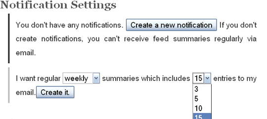 FFsummary notifications
