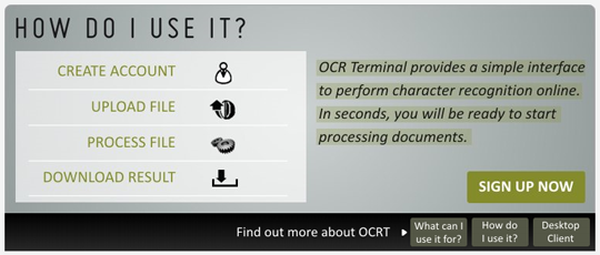 OCR Terminal how to