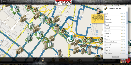 monopoly city streets buidings