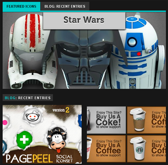 365icon starwars and social icons and banners