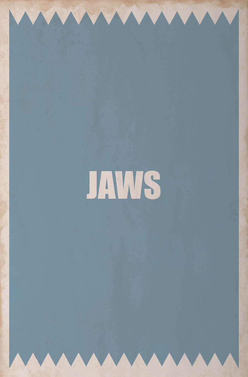 jaws minimalist movie poster | Orangeinks