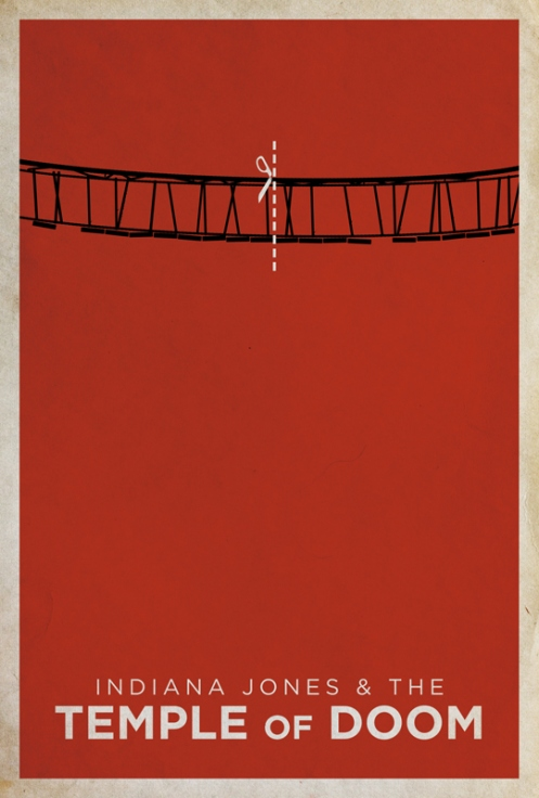 temple of doom minimalist movie poster