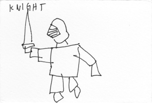fastest possible drawing of knight | Orangeinks