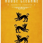 Game of Thrones Minimalist Poster House Clegane