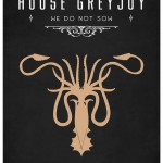 Game of Thrones Minimalist Poster House Greyjoy
