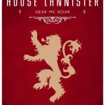 Game of Thrones Minimalist Poster House Lannister