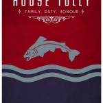 Game of Thrones Minimalist Poster House Tully