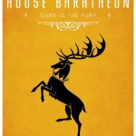 Game of Thrones Minimalist Poster House of Baratheon