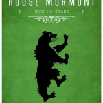 Game of Thrones Minimalist Poster House of Mormont