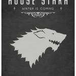 Game of Thrones Minimalist Poster House of Stark