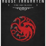 Game of Thrones Minimalist Poster House of Targaryen