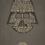 Typography Movie Poster Star Wars A New Hope