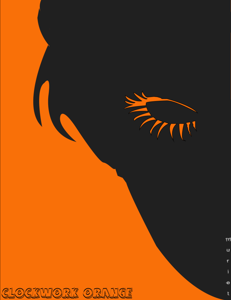 clockwork orange minimalist fan art | Orangeinks A Clockwork Orange Minimalist Poster