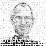 steve jobs art apple products black and white