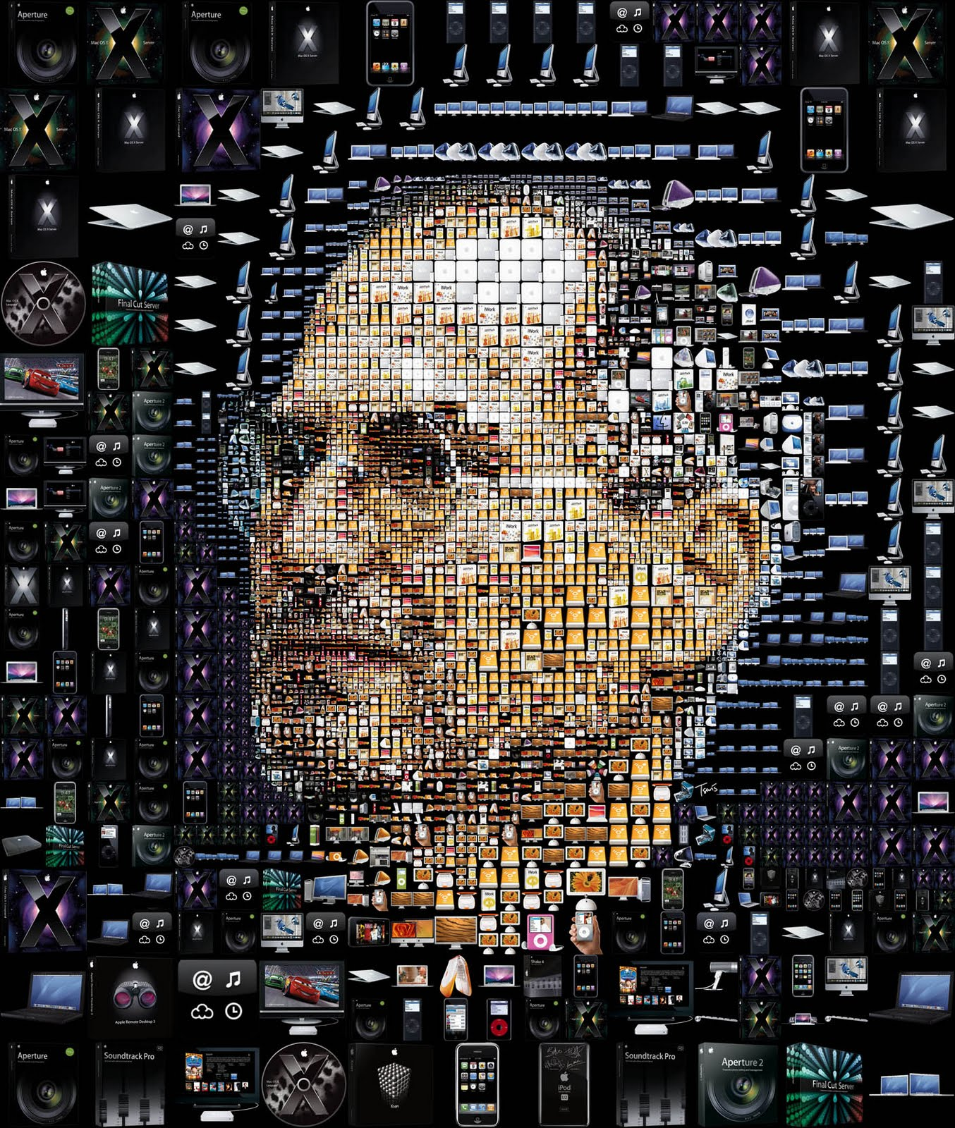 Art Jobs : Steve jobs art apple products black orangeinks