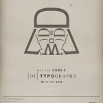 the force of typography darth vader