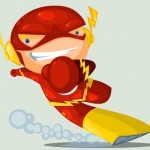 Cute DC Superheroes Art Flash