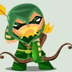 Cute DC Superheroes Art Green Arrow