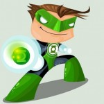 Cute DC Superheroes Art Green Lantern