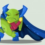 Cute DC Superheroes Art Martian Manhunter