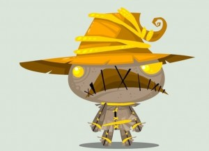 Cute DC Superheroes Art Scarecrow