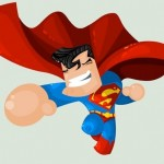 Cute DC Superheroes Art Superman