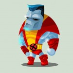 Cute Marvel Superheroes Art Colossus