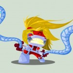 Cute Marvel Superheroes Art Omega Red