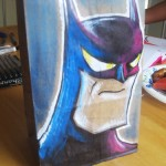 Paper Lunch Bag Art Batman
