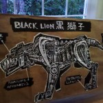 Paper Lunch Bag Art Black Lion Voltron