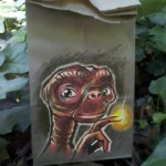 Paper Lunch Bag Art ET
