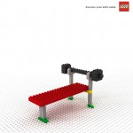 lego excersise your kid's mind barbell ad