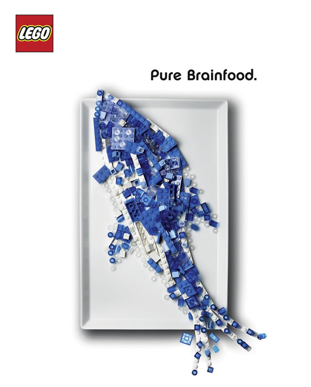 lego pure brain food fish ad