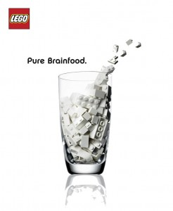 lego pure brain food milk ad