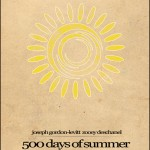 Minimalist Parchment Movie Poster 500 days of Summer