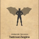 Minimalist Parchment Movie Poster Batman Begins