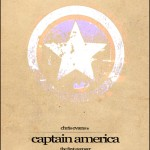 Minimalist Parchment Movie Poster Captain America