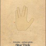 Minimalist Parchment Movie Poster Star Trek