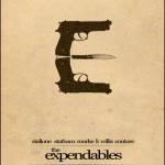 Minimalist Parchment Movie Poster The Expendables