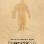 Minimalist Parchment Movie Poster The Incredible Hulk