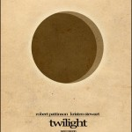 Minimalist Parchment Movie Poster Twilight New Moon