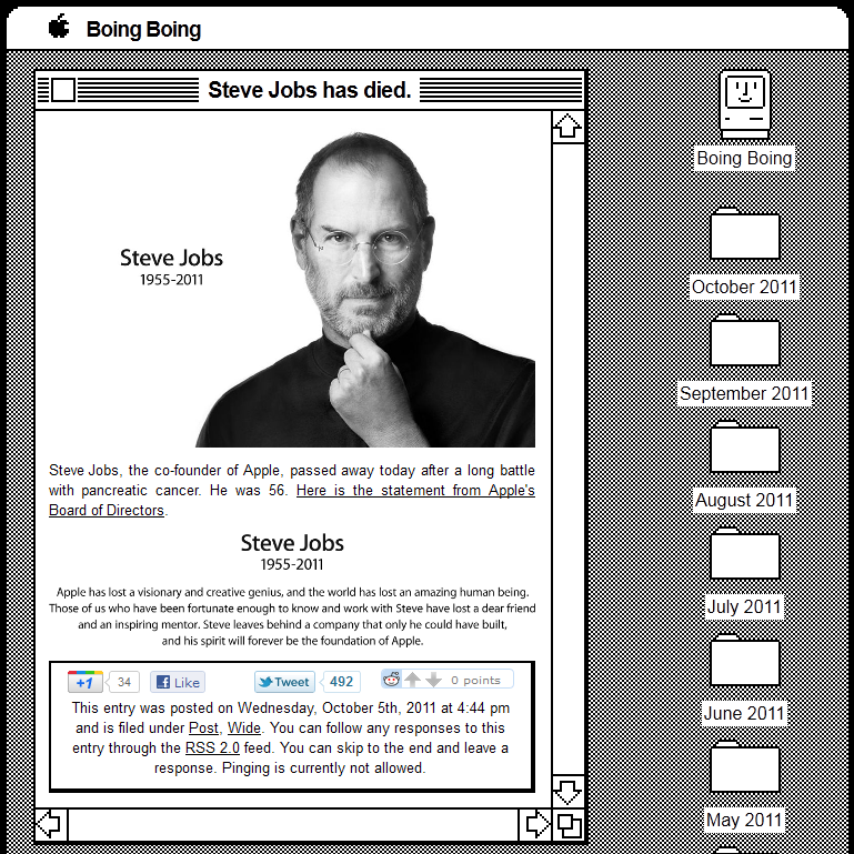 Steve Jobs Tribute Boing Boing