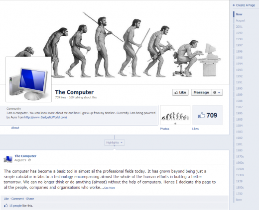 Learn about the History of the Computer on Facebook | Orangeinks