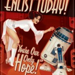 leia r2-d2 rebel alliance recruitment poster