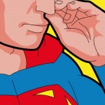 Superman Picking Nose