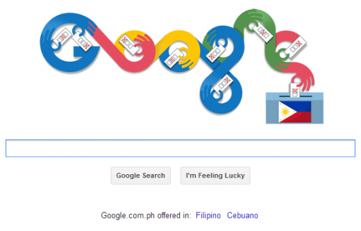 Google Doodle Philippines General Election 2013